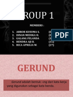 [Presentasi Ing Minat] Gerund & Past Participle