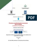 Citoyenneté Et Démocratie Participative Au Maroc, Les Conditions de La Construction d'Un Modèle