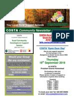 COSTA Newsletter - Sept 2019