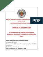 La hegemonía del capital financiero en Argentina durante la presidencia de Mauricio Macri