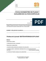 Protocolo de muestreo de plagas y auxiliares en cultivos horticolas