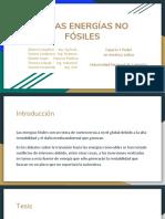 Otras Energías No Fósiles