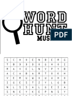 Word Hunt Music and Arts