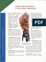 ASEAN Declaration on Cultural Heritage