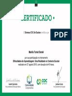 Dificuldades de Aprendizagem Uma Realidade No Contexto Escolar-Certificado 430482
