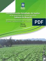 Levantamiento Detallado de Suelos en las Áreas Planas de 14 municipios de la Sabana de Bogotá
