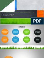 Building Materials & Construction - 3 CEMENT