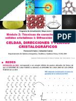 ClaseXI_celdas, Direcciones y Planos Cristalográficos