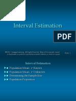 Lecture Interval Estimation