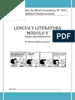 Cens 364 - Lengua y Literatura - Módulo v - Trama Argumentativa