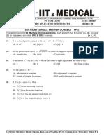 Application of Derivative (Question Paper).Docx