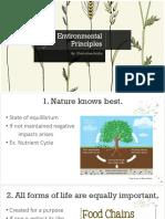 Environmental Principles
