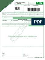 Formulario 1162 - Planilla de Traslado en Blanco