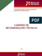 CADERNO DE RECOMENDAÇÕES TÉCNICAS
