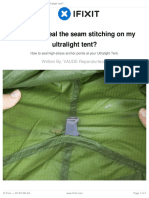 How Can I Seal the Seam Stitching on My Ultralight Tent