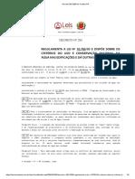 Decreto 293 2006 de Curitiba Pr Reservatorio de Reuso de Águas Pluviais