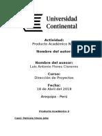 Producto Académico 2 CHR