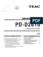 Teac PD D2610 Service Manual