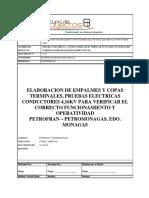Informe de Pruebas Conductores 4,16kv - Copas y Empalmes