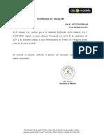 Modelo de certificado de afiliación a AFP