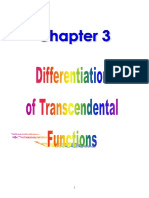 Chapter 3 - Differentiation of Transcendental Functions
