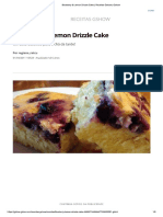 Blueberry & Lemon Drizzle Cake _ Receitas Gshow _ Gshow