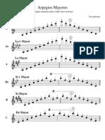 Arpegios mayoes 3 octavas violín
