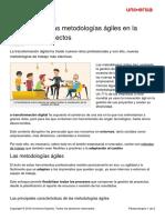 4 Ventajas Metodologias Agiles Gestion Proyectos