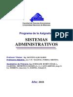 Programa de sisad FCE