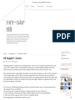 Hr Support -Issues _ Brain Fry-sap Hr