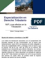 Presentación Niif y Sus Efectos en La Tributacion