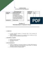 Practica 1_ Determinacion de Tamaño de Grano