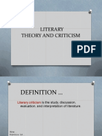 Introduction Literary Theories and Criticisms