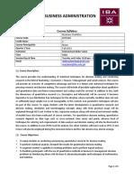 Business Statistics-Course Syllabus (1)