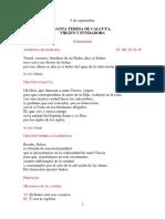 LITURGIA DE LA MADRE TERESA