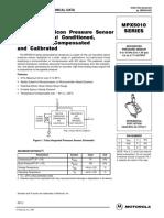 Motorola MPX5010DPIntegrated Pressure Sensor Datasheet