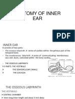 $ ANATOMY OF INNER EAR