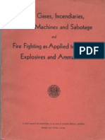 War Gases, Incendiaries, Infernal Machines and Sabotage and Fire Fighting as Applied to Military Explosives and Ammunition