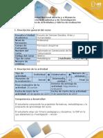 Guia Actividades y Rubrica Evaluacion - Fase 1 - Aprestamiento Sociopraxico