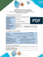 Guía de Actividades y Rúbrica de Evaluación – Tarea 1- Introducción a La Tarea
