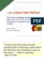 The Critical Path Method