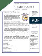 4th grade newsletter september