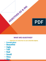 Adjectives Ed & Ing
