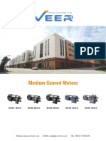Catalogue of Medium Gear Motors From VEER Motor
