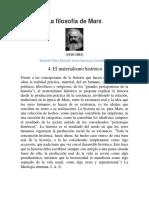 Materialismo Historico Del Filosofo Marx