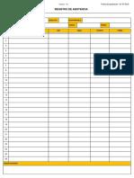 F3 SSMA SI PR 006_Registro de Asistencia