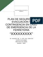PLAN DE CONTINGENCIAS DE FERRTETERIAS