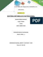 Actividad # 2 Sistema Metabolico Nutricional Aporte 3