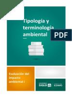 1-Tipología y Terminología Ambiental
