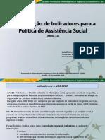 VIGILANCIA SOCIOASSISTENCUAL E INDICADORES DO SUAS